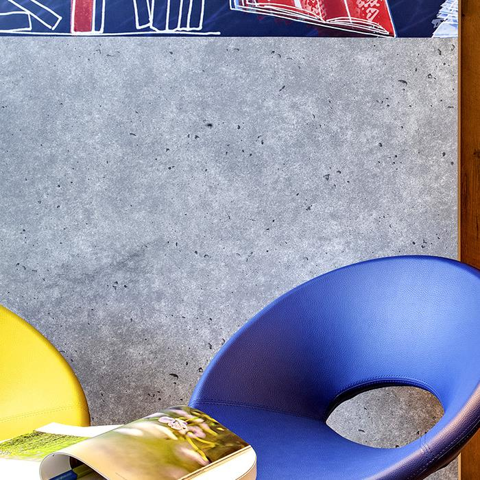 design chairs in the lobby of an ibis budget